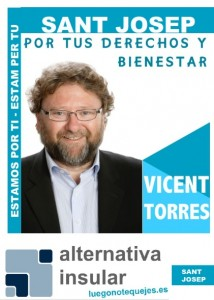 Vicent Torres Candidato Sant Josep 2015